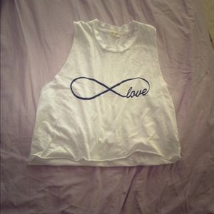 Brandy Melville love infinity shirt brand new
