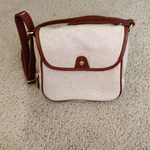 Jcrew canvas leather trim cross body minibag NWOT