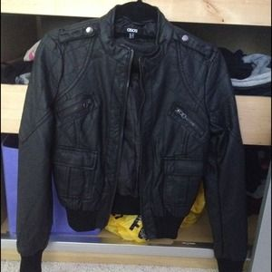 Asos faux leather black jacket BRAND NEW