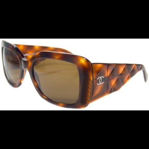 Chanel Jewelry Sold Brown Tortoise Quilted Sunglasses 5019 Poshmark