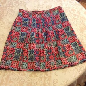 MARC JACOBS  Floral 100% Silk Pleated Knee Skirt!
