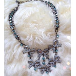 Betsey Johnson Jewelry - Betsey Johnson Snow Bunny Bow Necklace ❄️