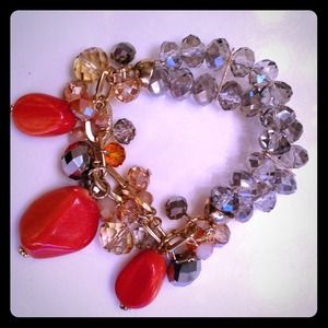 Jewelry - Fun Coral Sparkle Stretch Bracelet