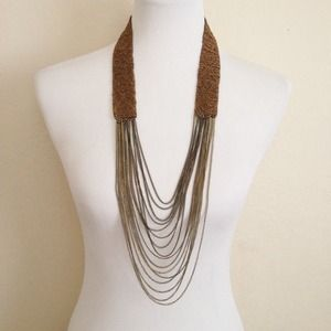 Jewelry - Beaded Mixed Metal Chain Necklace