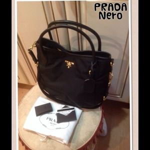 Authentic PRADA navy blue purse NO TRADES