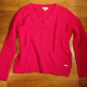 Cozy hot pink Michael Kors sweater