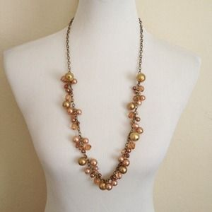 Jewelry - Gold & Pearl Long Necklace