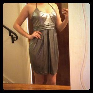 Sexy silver metallic dress
