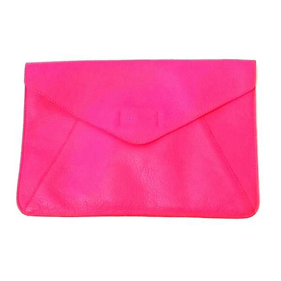 Gap - SOLD!! Gap Hot Pink Leather Envelope Clutch from ...