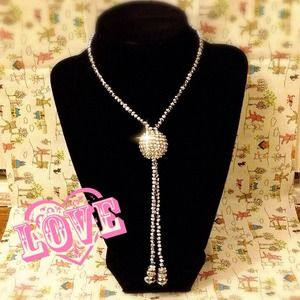 ⭐REDUCED⭐Shiny Disco Ball-like Long Necklace