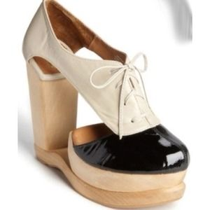 Jeffrey Campbell Woodies Cut Out High Heel Wedge