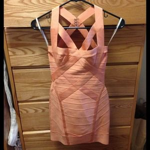 Orange Herve Leger dress XS
