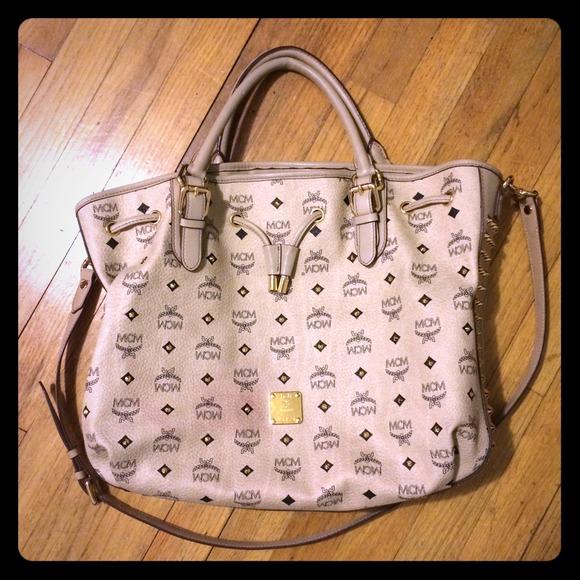 e7bbf4668 MCM Bags | Hold Sp 12 Vintage Visetos Drawstring Tote | Poshmark