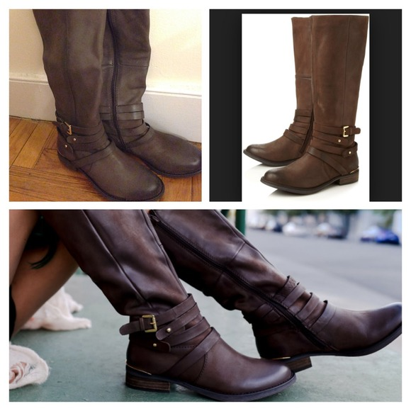 5fbbe19a23e NWT Steve Madden Albany Brown Riding Boot Buckle 6 NWT
