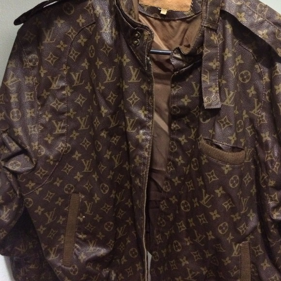 louis vuitton jackets amp coats vintage bomber jacket