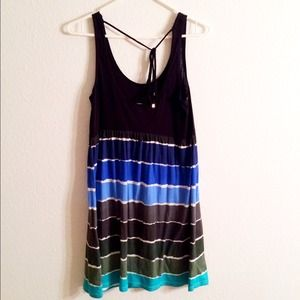 🏄🌴HURLEY Shades of Blue Summer Stripe Tank Dress