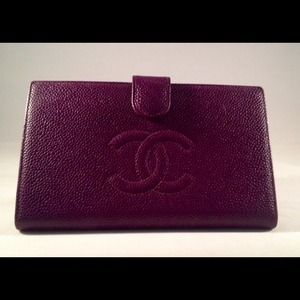 Authentic Chanel Purple Wallet