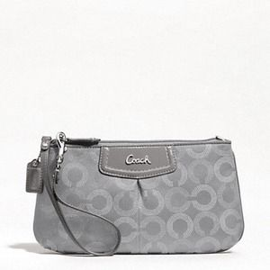 NEW Authentic Coach Large Wristlet