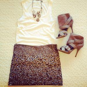 SOLD!!! Handmade Sequined Mini Skirt