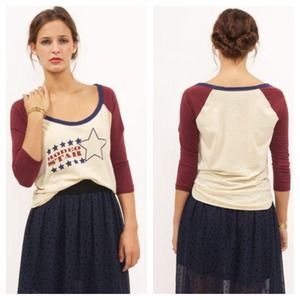 "Chaser Tops - NEW Chaser ""Rodeo Star"" Baseball Tee"