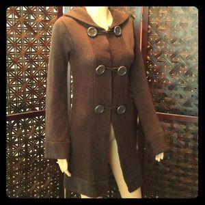 Jackets & Blazers - Brown sweater jacket w/ hood.
