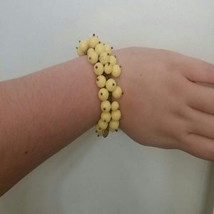 J.Crew yellow beaded bracelet