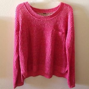 Free People Sweaters - Free People Pink Crochet sweater