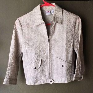 A/X Armani Exchange Grey Textured Crop Jacket