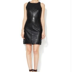 Walter Baker Quilted Leather Shift Dress