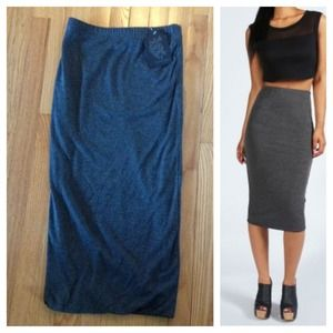 NEW Gray Midi Pencil Skirt ~ Editor's Pick