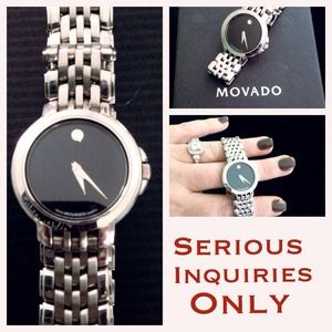 Authentic diamond face Movado watch.