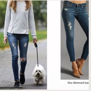 SALE DISTRESSED JEANS 20.00
