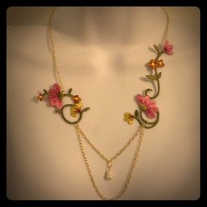 island goddess Jewelry - Sale!The Melissa: Springtime romance lace necklace