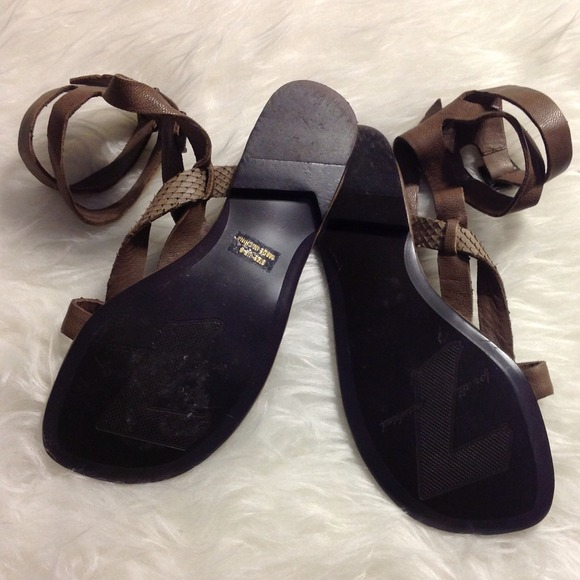 "7 for all Mankind Shoes - 7 for all mankind ""Snakeskin"" Buckle Sandal"
