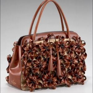Valentino Floral Double-handle leather NWT