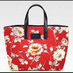 Dolce & Gabbana Miss Lipari Floral Canvas Tote