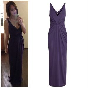 Dresses & Skirts - Low V-Neck Purple Dress
