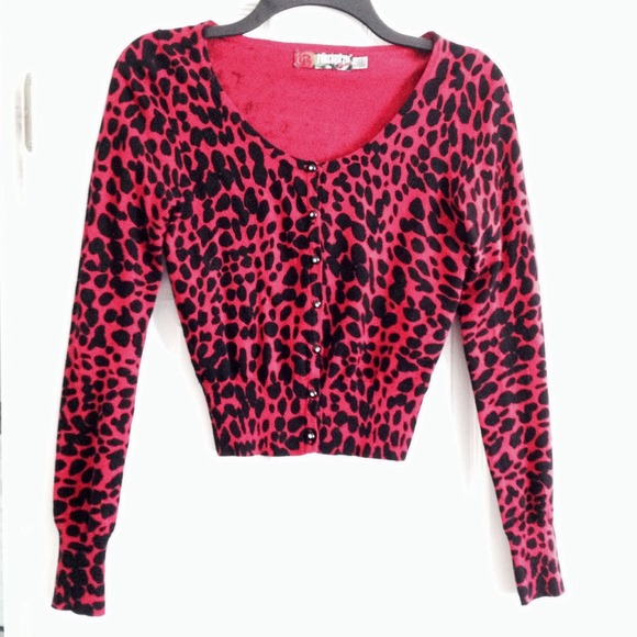 38% off Forever 21 Sweaters - 🌺Forever 21 PINK Leopard Cardigan ...