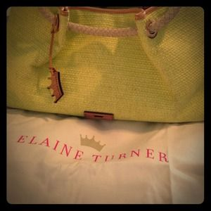 % auth Elaine Turner bag/cosmetic case NWT
