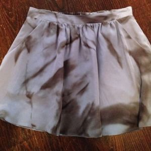 Kelly Wearstler short silk skirt, size small