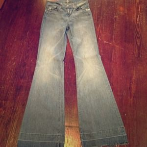7 jeans high waisted flair size 26