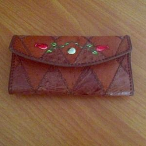 % Authentic✔ rose jacquard leather wallet