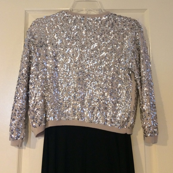 25% off H&M Sweaters - H&M Silver Cropped Sequin Cardigan from ...