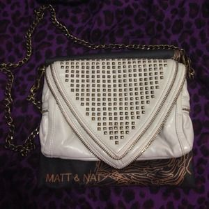 Matt & Nat White Crossbody Bag