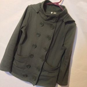 Double breasted olive coat