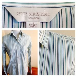 👍 Turquoise Striped Button Down