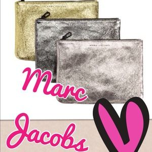 🆕Marc Jacobs Leather Clutches Lot of 3