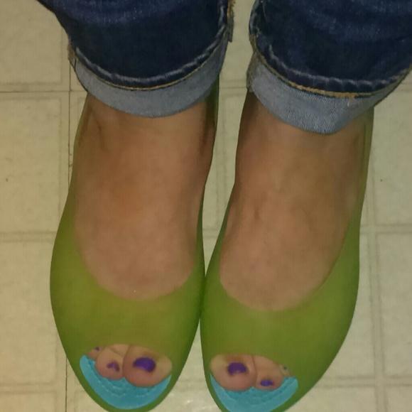 65f57387d92715 crocs Shoes - Crocs Carlie Peep Toe Flats!!! Available!