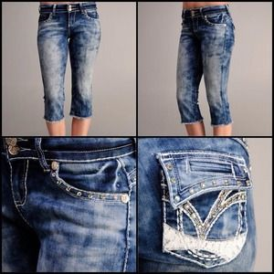 VO Virgin Only Miss Me Inspired Capris Jeans 28