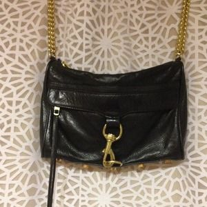 Black leather Rebecca Minkoff MAC